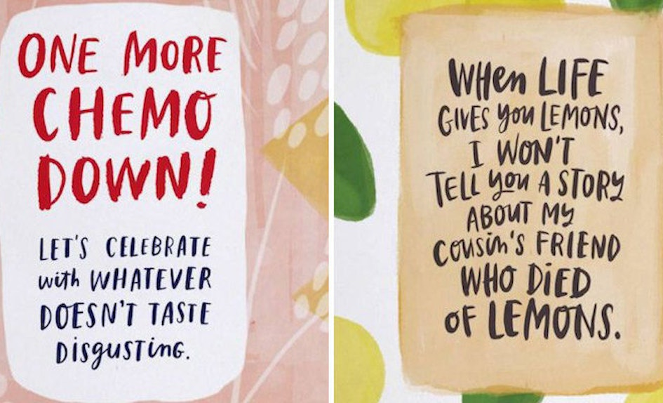 these honest greeting cards make it easier to comfort sick loved