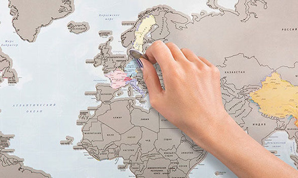 this world map lets you scratch off all of the places youve been photos