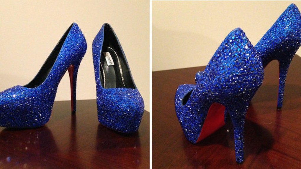 affe0716b77 Girl Makes Incredible $40 Version Of $6,000 Louboutins For Sister's Prom