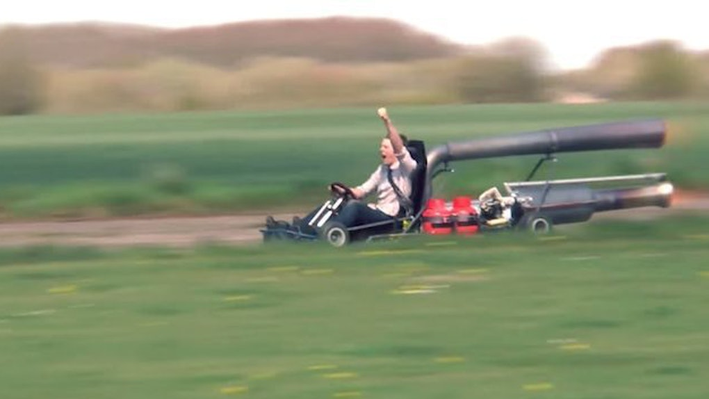 Somebody Built A Jet-Powered Go-Kart And It's Pure Madness (Video)