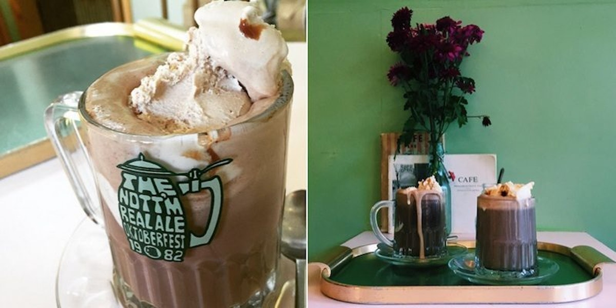People Are Going Nuts For These Crazy Hot Chocolate Ice Cream Floats (Photos)