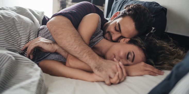 Cuddling in bed meaning