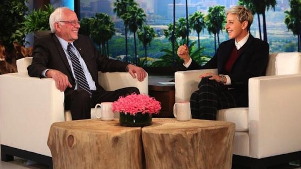Stupendous Bernie Sanders Cuts A Rug On The Ellen Show Blows Minds Ocoug Best Dining Table And Chair Ideas Images Ocougorg