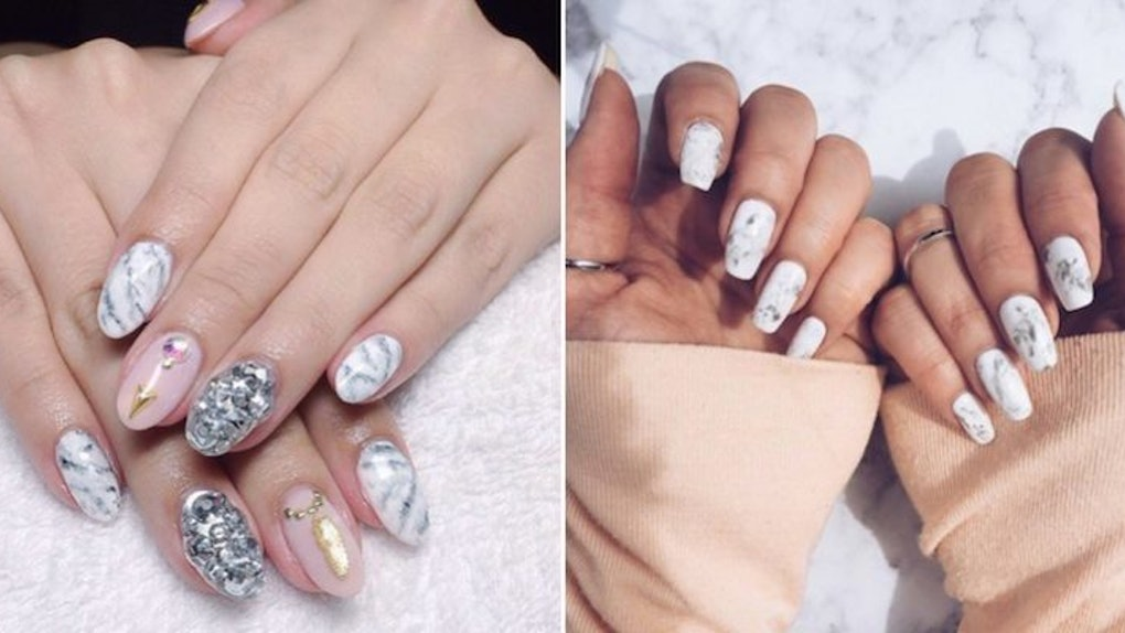 Gorgeous Marble Manicures Is The Newest Nail-Art Trend You Need To ...