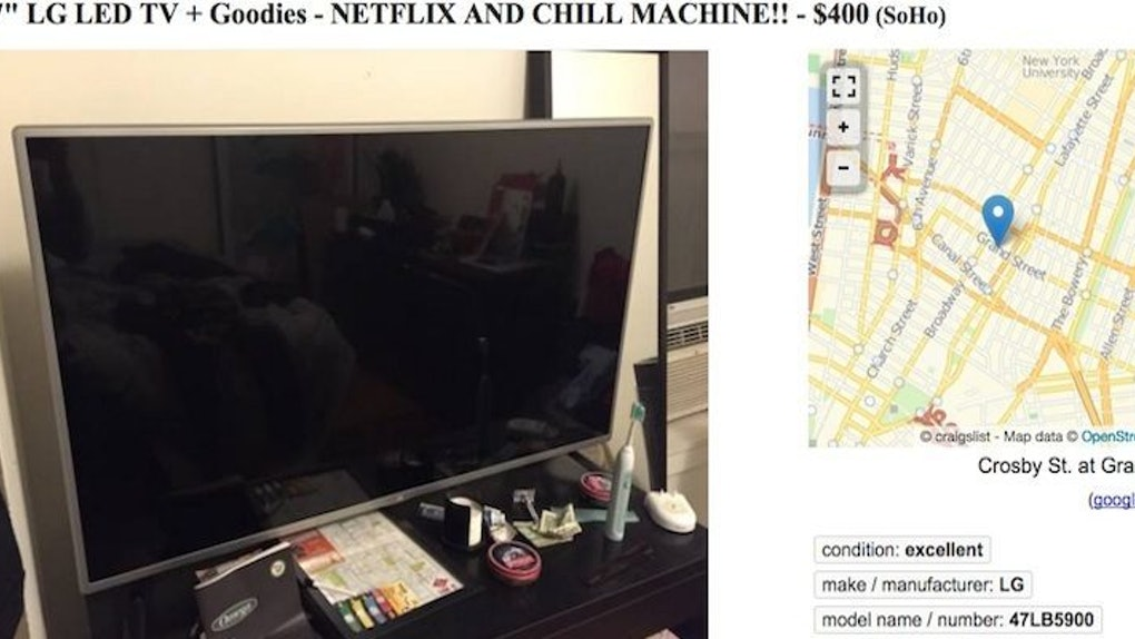 People Are Actually Posting 'Netflix And Chill' Ads On Craigslist