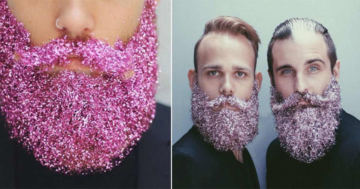 b1fac351528 Guys Are Rocking Sparkly Glitter Beards Just In Time For The Holidays  (Photos)