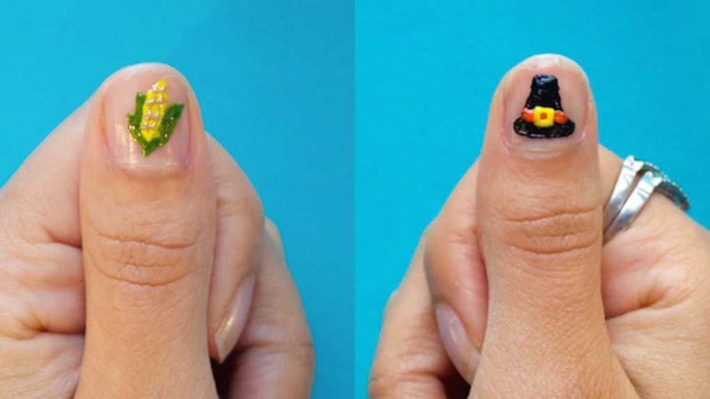 4 Easy Thanksgiving Nail Art Designs That Don T Require