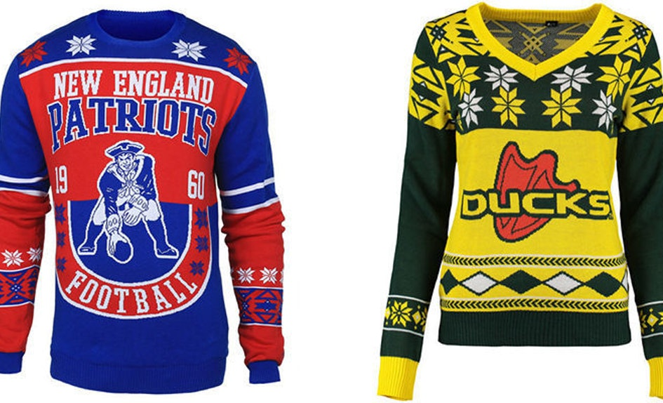 These Ugly Christmas Sweaters Are The Perfect Gifts For Sports Fans Photos