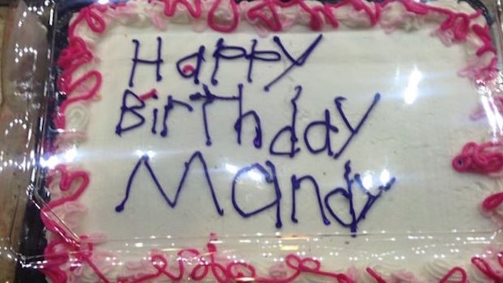 Super A Photo Of A Supermarket Birthday Cake Is Going Viral For The Best Funny Birthday Cards Online Hetedamsfinfo