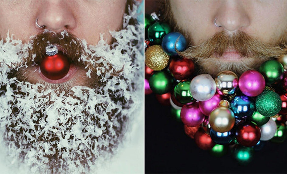 the glitter beard guys just made their beards even more festive photos - Christmas Beard