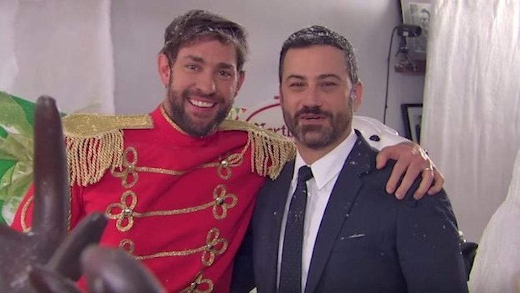 Christmas Pranks.Jimmy Kimmel Got John Krasinski Back For His Hilarious