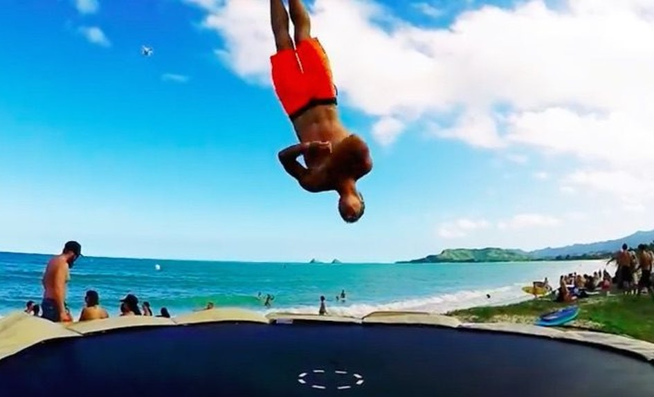 This Insane Beach Trampoline Party Will Leave You Wanting Summer Right Now