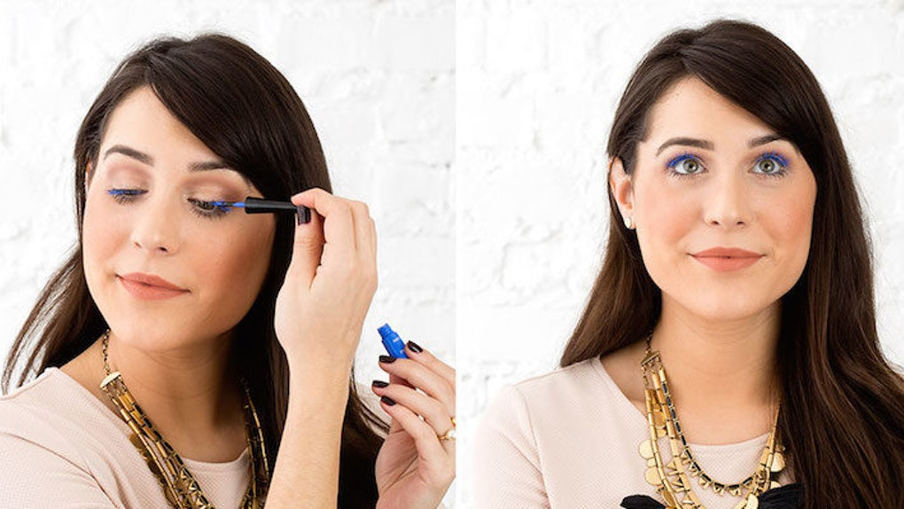 This Blue Mascara Trick Will Make Your Tired, Puffy Eyes