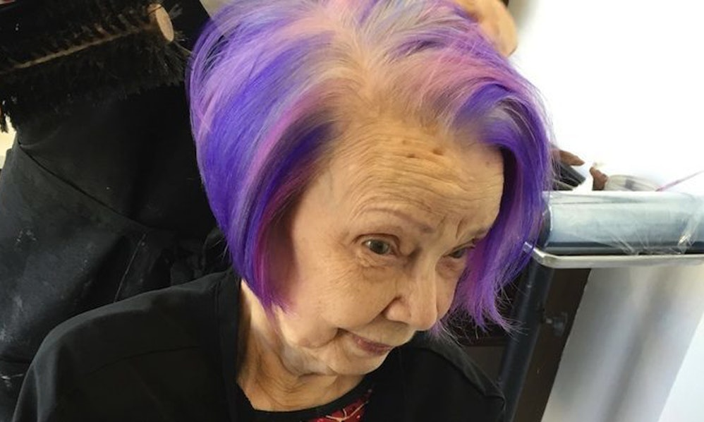 This Purple Haired Grandma Proves There S No Age Limit On
