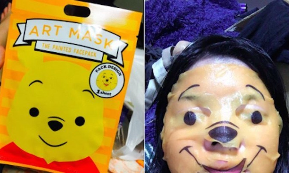 These winnie the pooh beauty masks will give you nightmares for weeks voltagebd Image collections