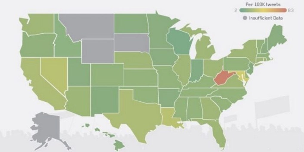 Here Are The Most And Least Racist States, According To Twitter
