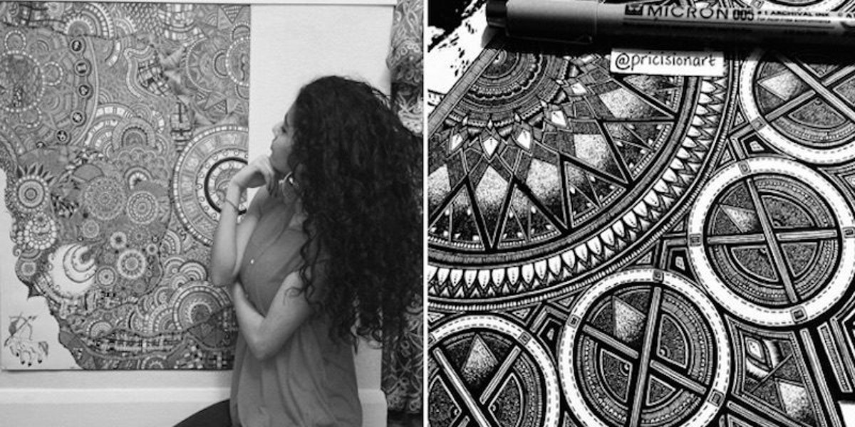 This Teen's Incredibly Intricate Drawings Take Doodling To The Next Level