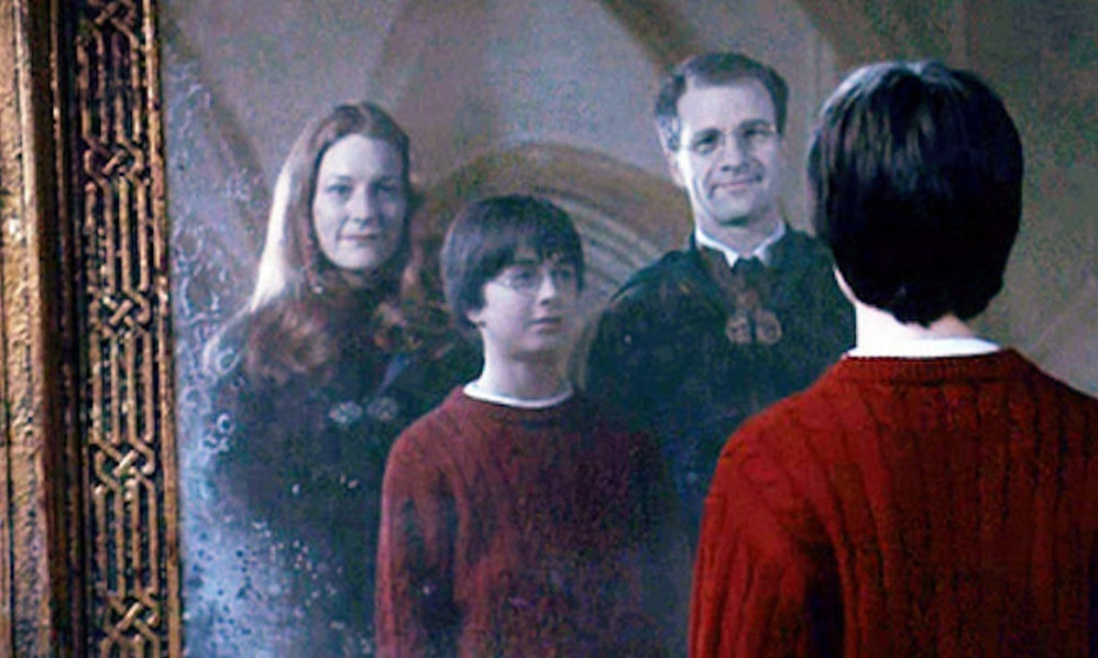 Image result for mirror of erised harry's parents