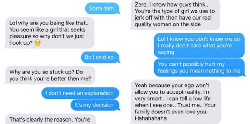 Woman Shares Vicious Texts She Got After Refusing To Have Sex With This Guy