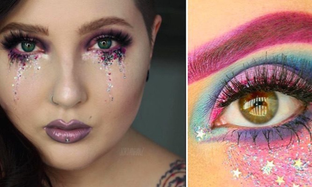 These gorgeous glitter tears will add some sparkle to your everyday these gorgeous glitter tears will add some sparkle to your everyday makeup ccuart Images