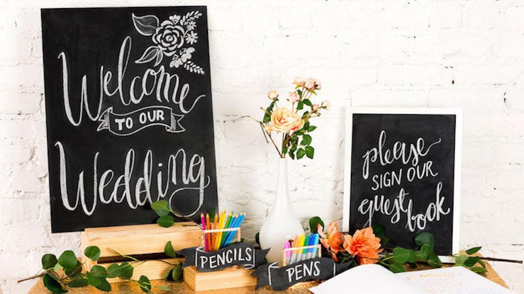 3 Easy Cost Effective Ways To Make Diy Chalkboard Wedding Signs