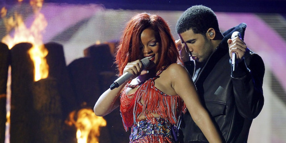 Rihanna Grinding On Drake In A Sheer Jumpsuit Is Almost Too Hot To Handle