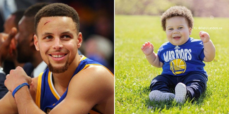 steph curry has a baby doppelgänger called stuff curry and he s