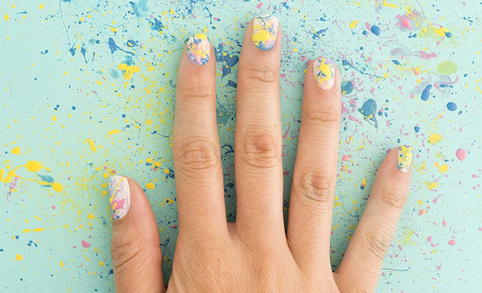 This Diy Splatter Paint Nail Art Is The Must Try Manicure Of The Summer