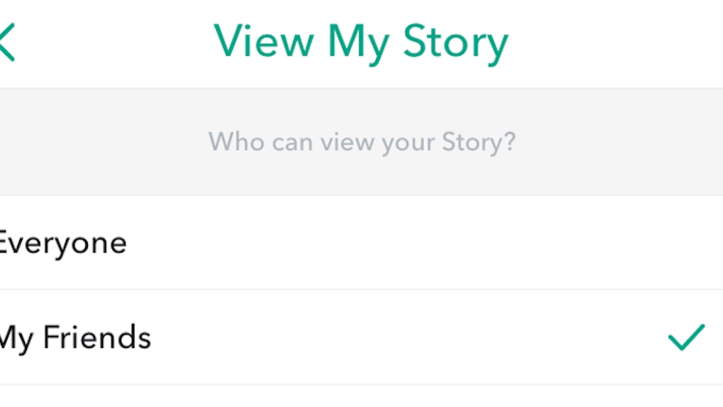 This Snapchat Hack Lets You Choose Which Friends Can See