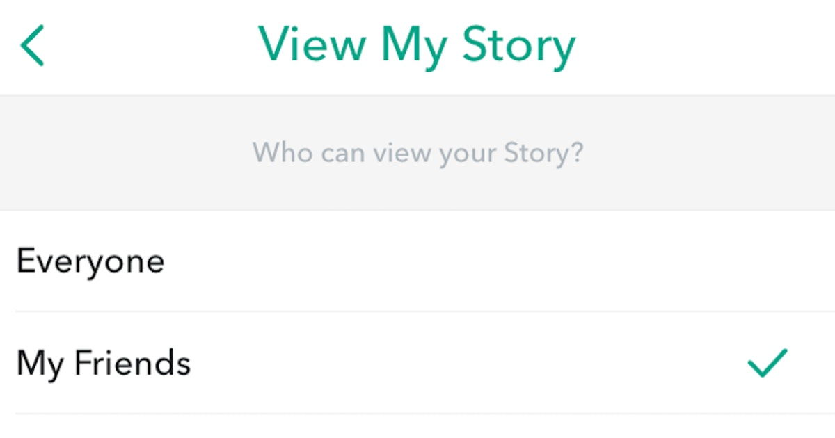 private story snapchat