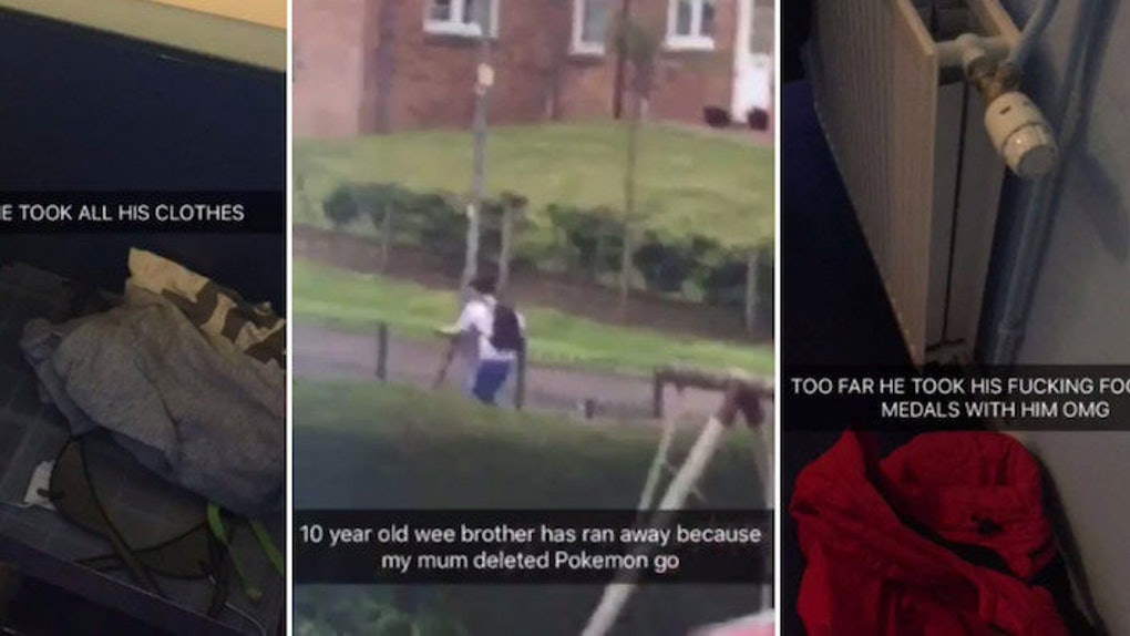 Teen Posts Epic Snap Story Of Brother Running Away From Home