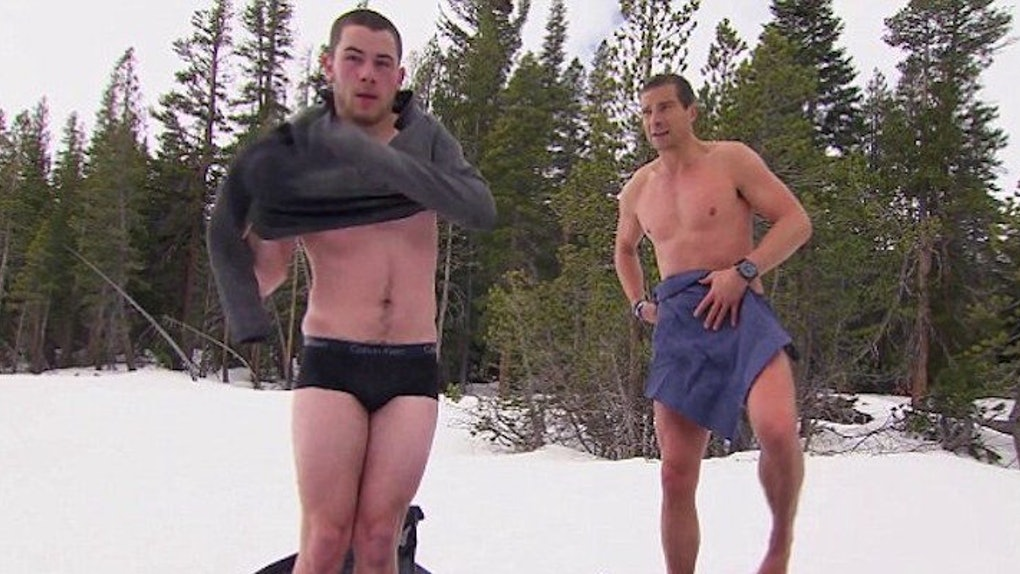 Nick Jonas Stripped Down To Jump In A Frozen Lake And Theres A Video