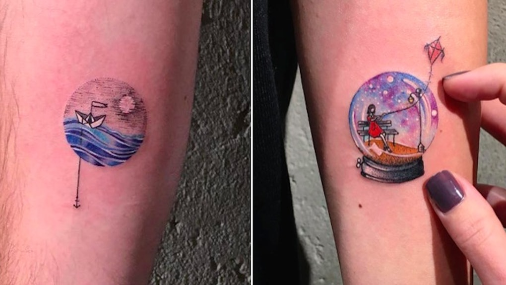 15 Simple Circular Tattoos That Will Inspire You To Finally