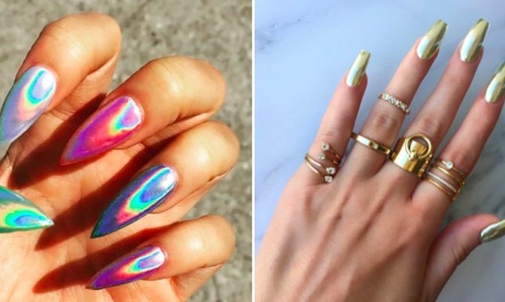 Holographic Nails Are The Beauty Trend You Need To Try Before Summer ...