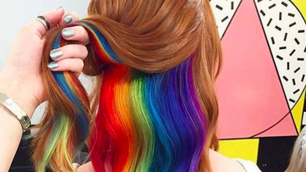 Hidden Rainbow Hair Will Make You Feel Like A Unicorn