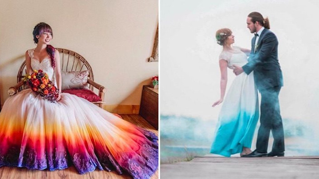 Women Love Dip Dye Wedding Dresses And You Can Diy,Fall Dresses To Wear To A Wedding As A Guest
