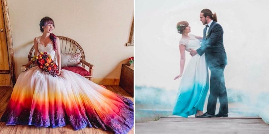 Women Love Dip Dye Wedding Dresses And You Can Diy
