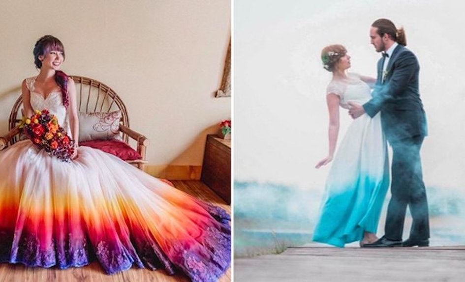 Women Love Dip-Dye Wedding Dresses, And You Can DIY