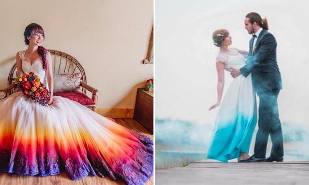 Women Love Dip-Dye Wedding Dresses, And You Can DIY