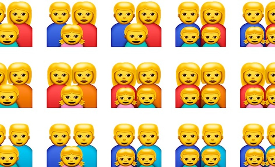 ios10 emojis now include a new kind of family and people are loving it