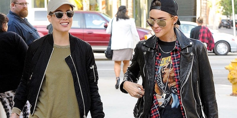 Lesbian dikes in leather