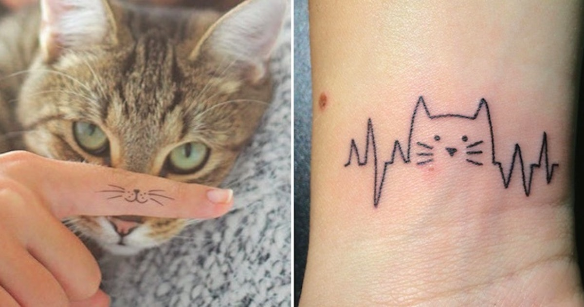 91795d3c3ca75 25 Tiny Tattoos That Prove Being A Cat Lady Is Finally Cool