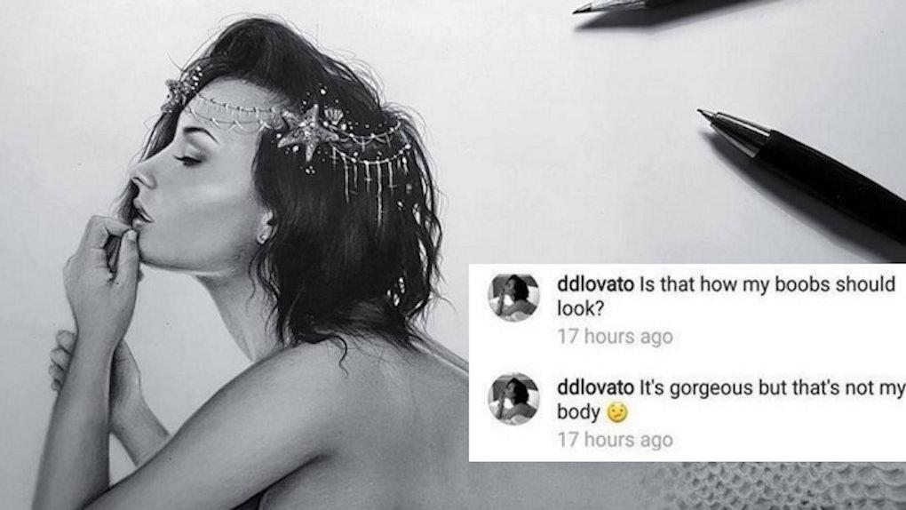 Demi Lovato Drawing Is Getting Slammed By Twitter Users