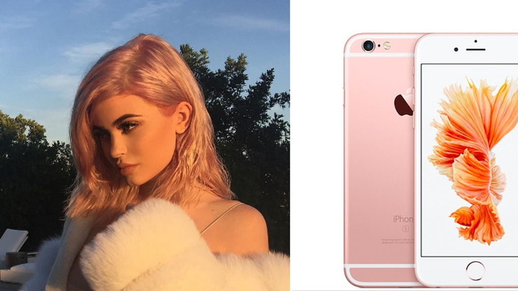 100% authentic f0e95 9e542 Kylie Jenner's Dyed Hair Looks Like The Rose Gold iPhone