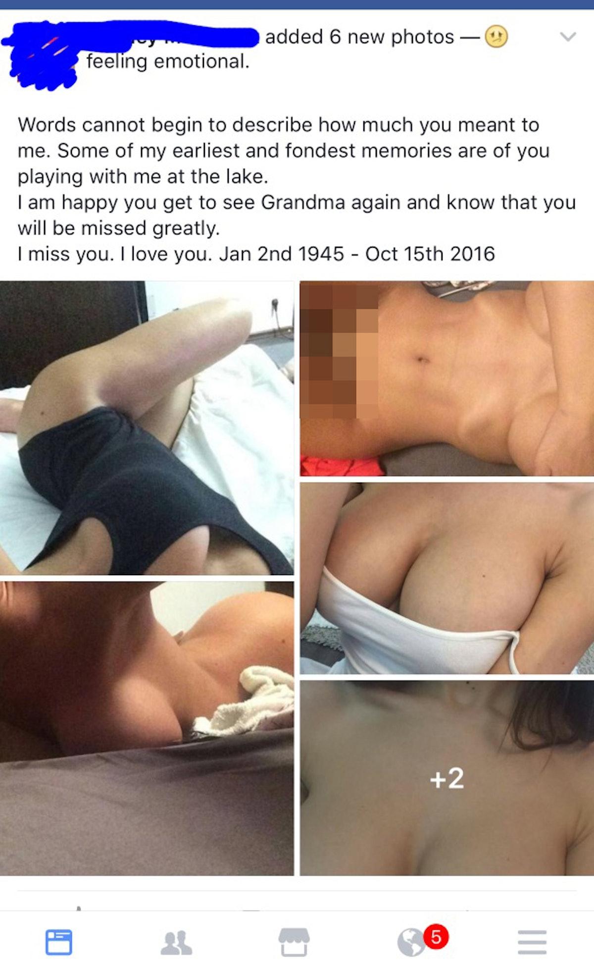 Facebook nude pictures Melania Trump's