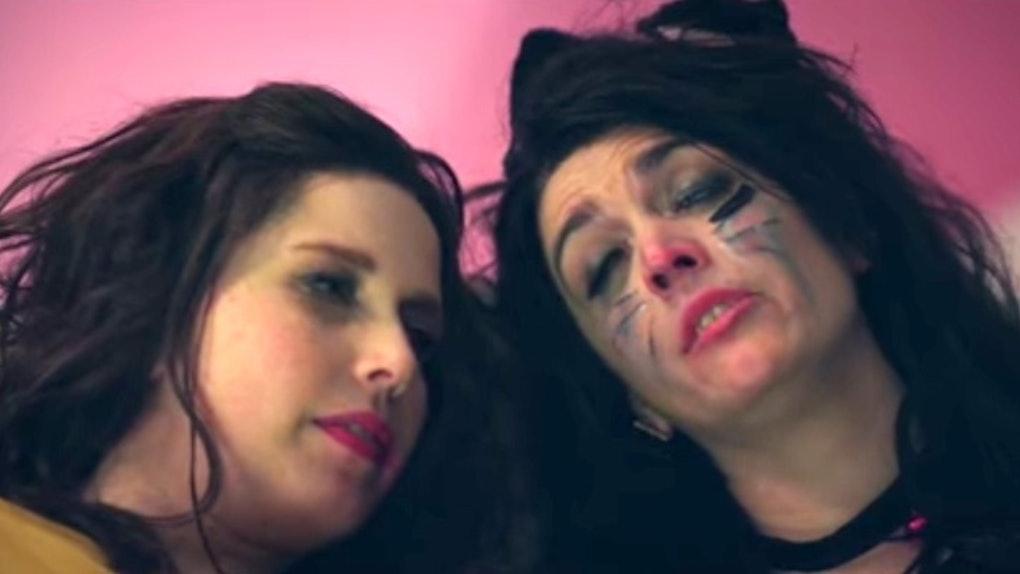 Drunk halloween girls