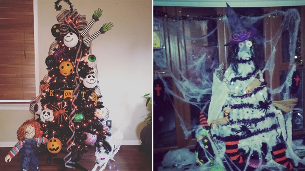 Halloween Christmas Tree.Halloween Christmas Trees Are Perfect For Lovers Of Both