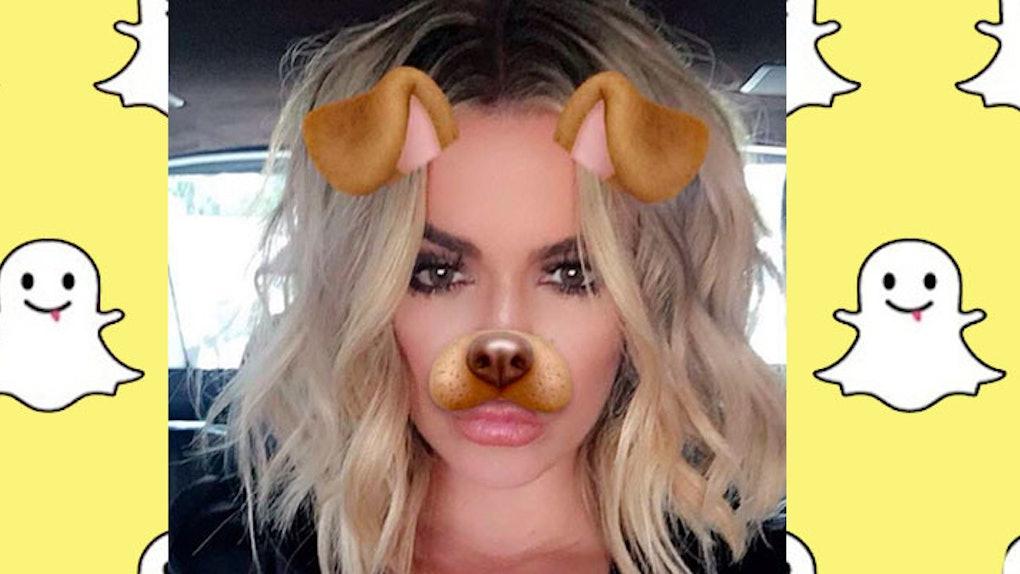 Khloé Kardashian's Favorite Snapchat Filters