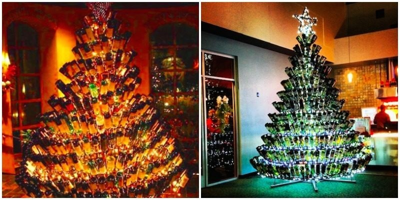 Wine Bottle Christmas Tree Craft.Wine Bottle Christmas Trees Are The Latest Holiday Trend