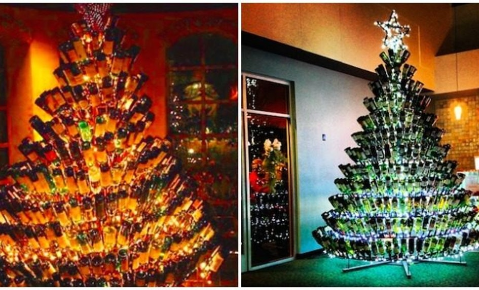 wine bottle christmas trees are the latest holiday trend - Wine Christmas